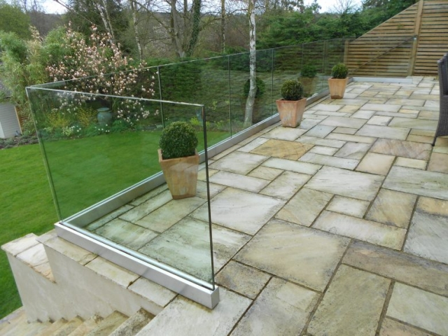 Outdoors Frameless Glass Balustrade