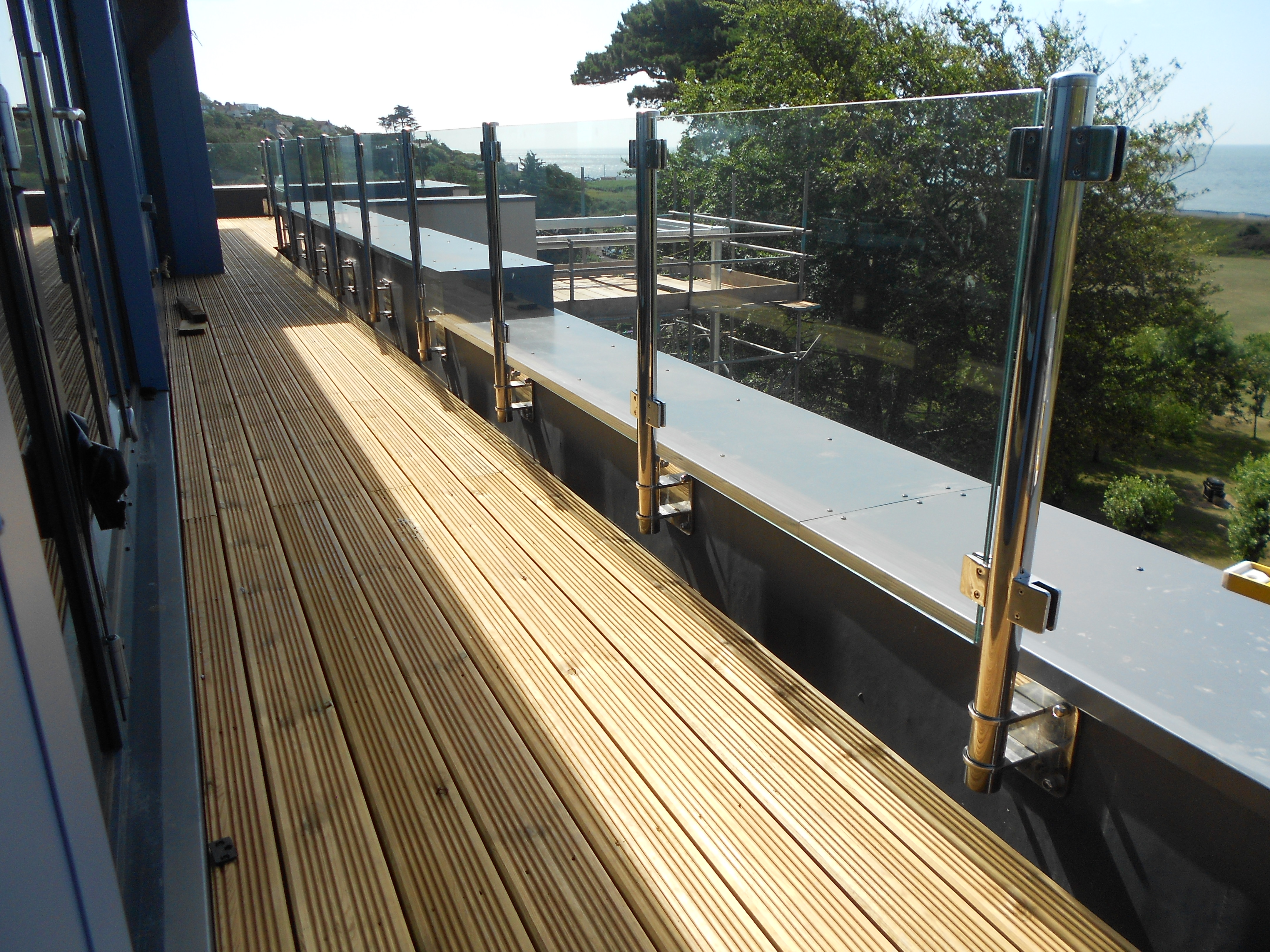 Stainless Steel Posts & Glass Balustrade