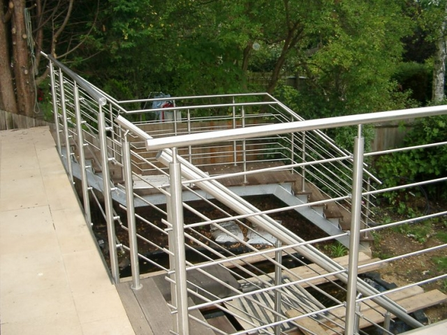 Outside Steel Staircase
