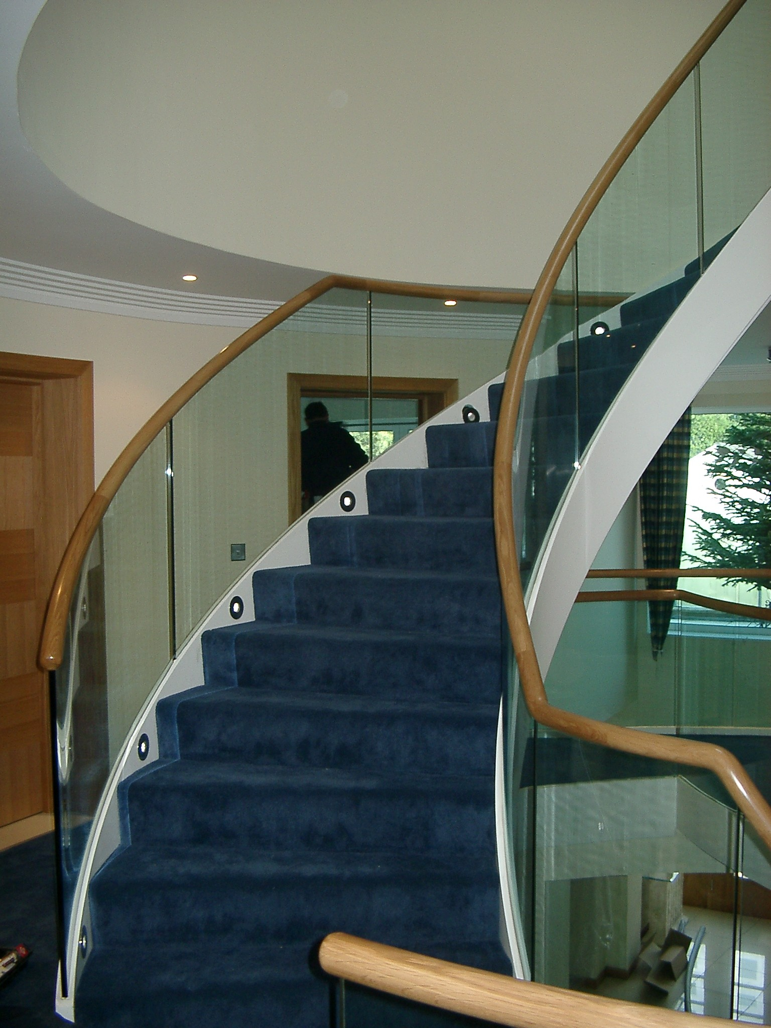 Spiral Steel Staircase Indoors